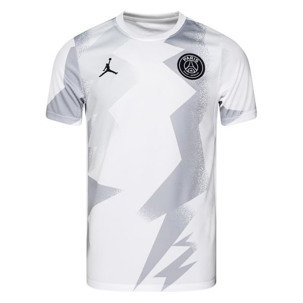 paris saint germain training t shirt jordan x psg weiss schwarz limited edition