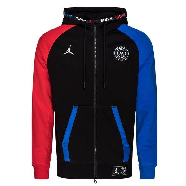 nike hoodie jordan x psg schwarz blau rot limited edition