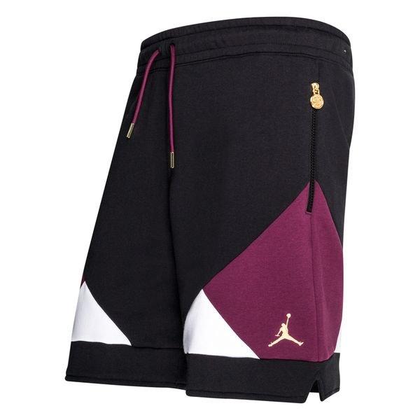 paris saint germain shorts jordan x psg schwarz bordeaux weiss gold