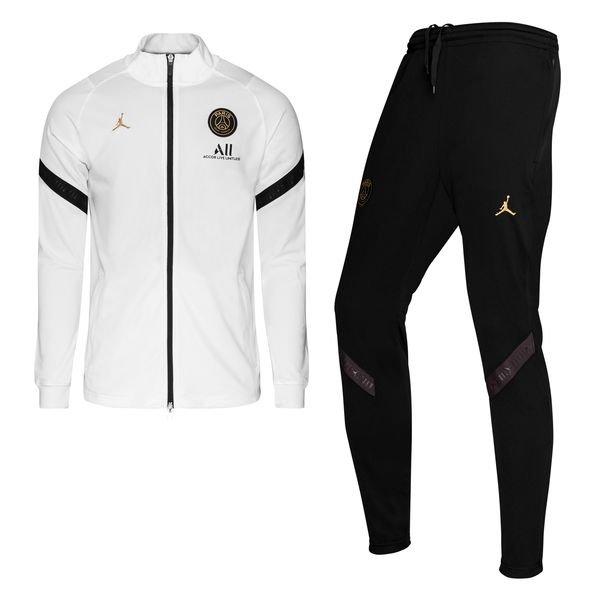 paris saint germain trainingsanzug dry strike jordan x psg weiss schwarz gold