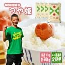 【ふるさと納税】≪定期便≫ 特別栽培米 つや姫 5kg×4ヶ