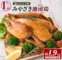 【ふるさと納税】1羽まるごと!!みやざき地頭鶏(塩にんにく味