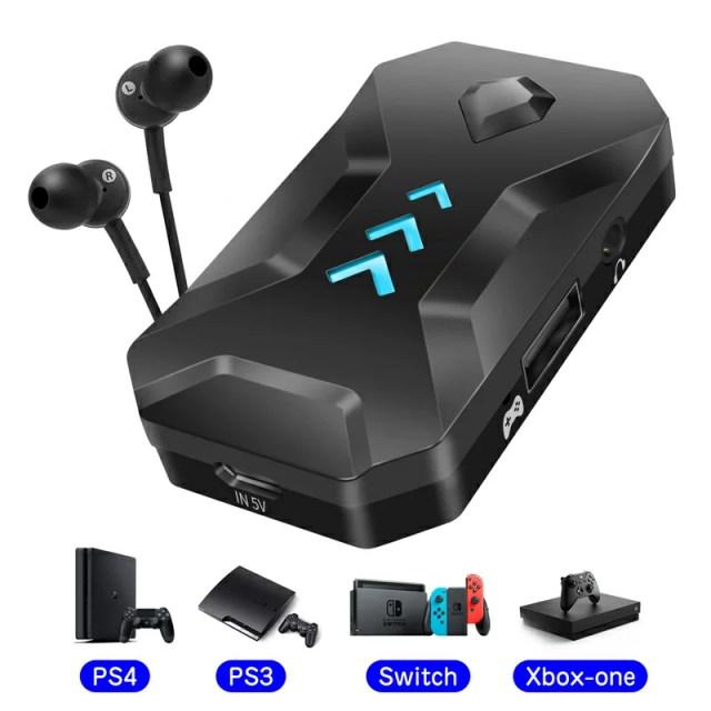 アダプター キーボード・マウス接続アダプター ヘッドセット機能 音声通信 ゲームコンバーター ゲーミングコントローラー変換 コンバータ マウスコンバーター コンパクト 転換アダプター 接続タップ Nintendo Switch/Xbox One/PS4/PS3対応