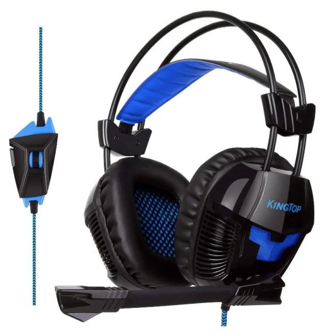 ゲーミングヘッドセット PS4 超軽量 KINGTOP ゲーミングヘッドフォン 大音量 高音質 プレイステーション4 ヘッドホン 電気メッキ材料採用 マルチ機能付き ノイズキャンセリングの高集音性マイク付 色: K11