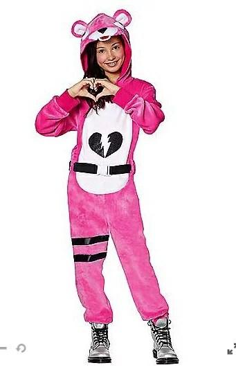 ピンクのクマちゃん コスチューム フォートナイト Fortnite ゲーム ジュニア キッズ 子供 ハロウィン コスプレ イベント 衣装 テレビゲーム