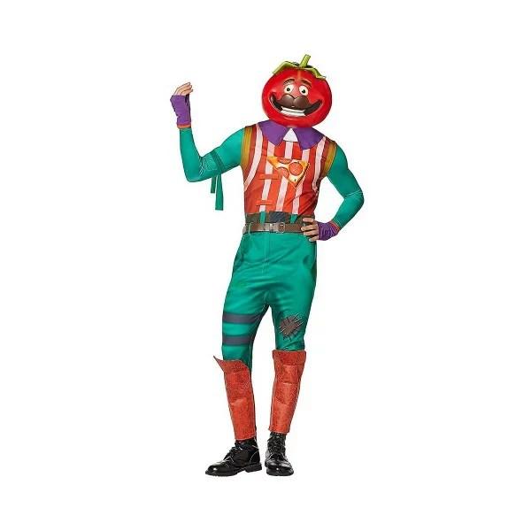 フォートナイト トマトヘッド コスチューム 大人 コスプレ 衣装 テレビゲーム