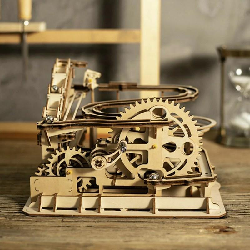 玩具 ビー玉 コースター 歯車 DIY 木 木製 置き物 パ