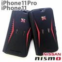 ニスモ nismo GT-R 公式ライセンス品 iPhone11 iPhone11pro専用 本革 手帳型 アイフォンケース……
