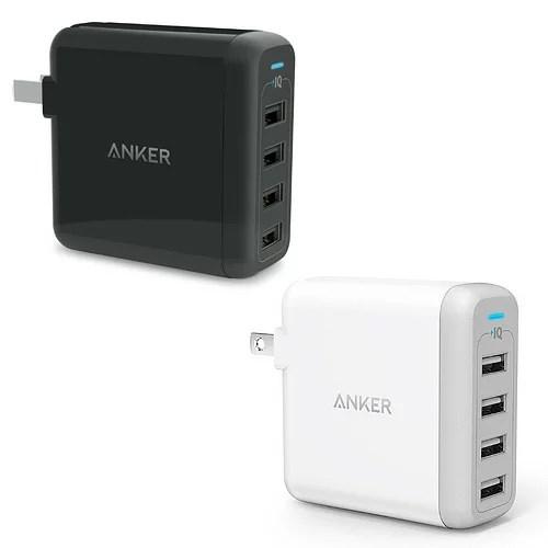 急速充電器 Anker PowerPort 4 USB急速充電器 40W4ポート マルチポート 折りたたみ式プラグ搭載 海外対応 ...