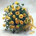 【あす楽16時まで受付】【季節のお花・花束】黄色スプレーバラの花束【あす楽対応】 クリスマス お歳暮 お正月