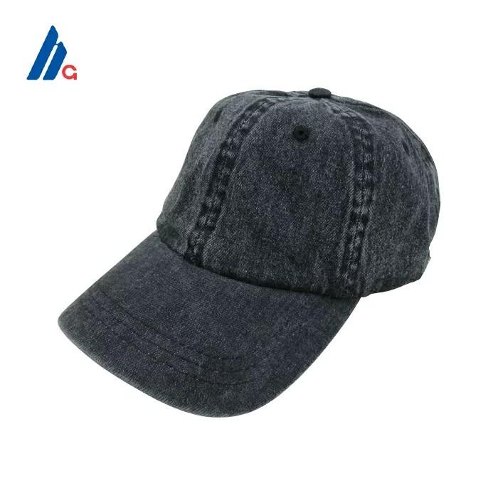 MEGA CAP(メガキャップ)ストラップバックキャップ(BLACK DENIM)無地 帽子 デニム