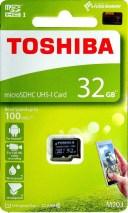 TOSHIBA 東芝 EXCERIA M203 最大読込速度100MB/s UHS-I対応 microSDHCカード 32GB THN-M203K0320A4 海外パッケージ