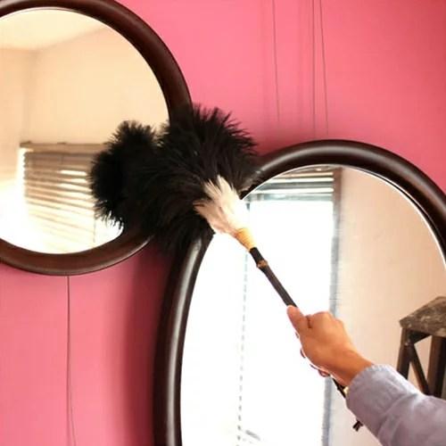 【松野屋 ダチョウ羽ばたき 中】掃除用具 はたき 大掃除 ほ