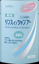 熊野油脂 ファーマアクト 薬用リンスインシャンプー 詰替用 350ML ( 4513574016576 )