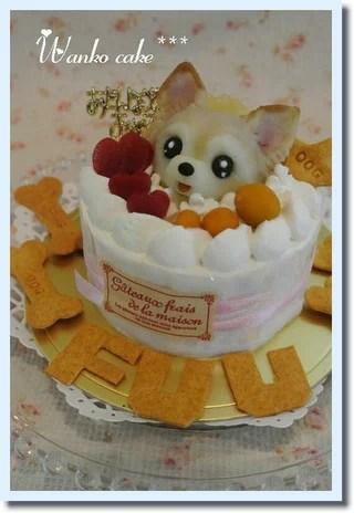 ワンコケーキ*フルーツデコレーションケーキ*S(犬用ケーキ・