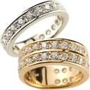 ペアリング 結婚指輪 マリッジリング ダイヤモンド ハーフエタニティ ホワイトゴールドk18 ピンクゴールドk18 結婚式 18金 ダイヤ スト..