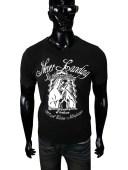 オラオラ系 ヤクザ ヤンキー 半袖 Tシャツ 55 黒 物&プリント DAIGO 服 ちょいワル 悪羅悪羅系