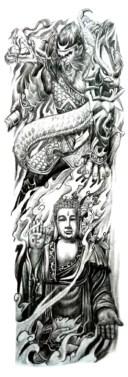(ファンタジー) TheFantasy タトゥーシール タトゥーシール 肩から手首 仏さま 如来 tqb029【特長】