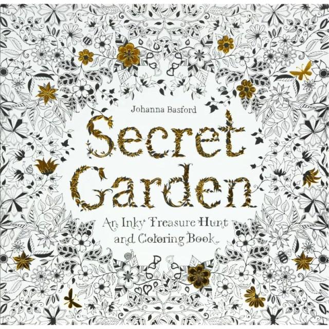 大人の塗り絵 ひみつの花園 秘密の花園 シークレットガーデン 色鉛筆 海外輸入版 英語版 洋書 原書 原本 コロリアージュ ジョハンナ バスフォード アートセラピー アートブック secret garden Johanna Basford 花いっぱいのぬりえブック