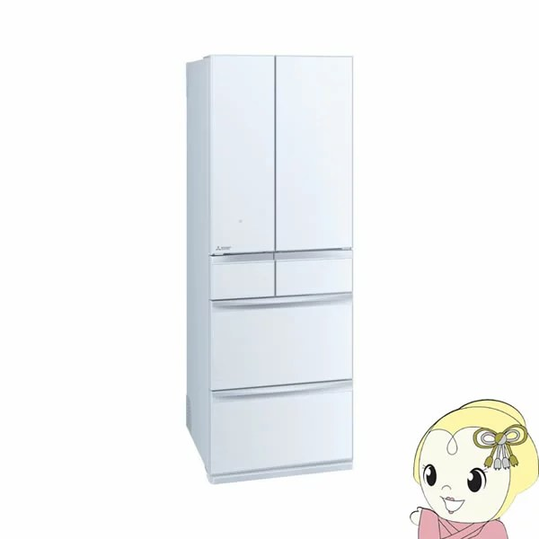 【設置込】 三菱電機 6ガラスドア フレンチドア 冷蔵庫 503L 置けるスマート大容量 MXシリー