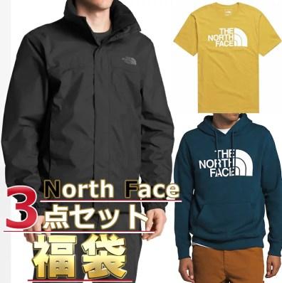 ノースフェイスTシャツパーカージャケット福袋メンズ3点セットUSAモデルTHENorthFace送料無料メンズブランド福袋お得な半袖Tシャツ、スウェットパーカー、ジャケット3点セット