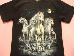 横浜最新 3頭の素敵な白馬♪ホースTシャツ M, L 送料2