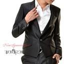 スーツセットアップ,Black Suit 、結婚式スーツ メンズスーツ,光沢生地スーツ