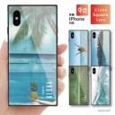 スクエア型 背面 ガラスケース TPUケース iPhone12 Pro Max iPhone8 ケース iPhone iPhone SE ……