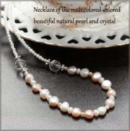 母の日 天然 パール ネックレス 真珠 水晶 バロックパール