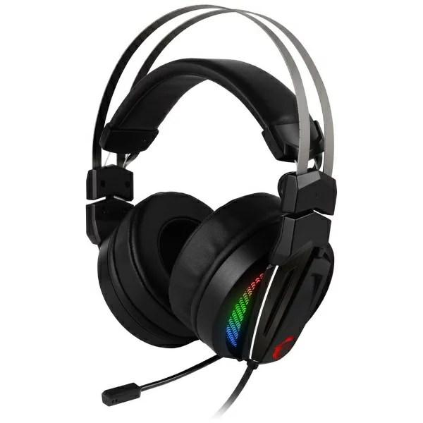 MSI エムエスアイ Immerse GH70 GAMING Headset ゲーミングヘッドセット ブラック [USB /両耳 /ヘッドバンドタイプ]