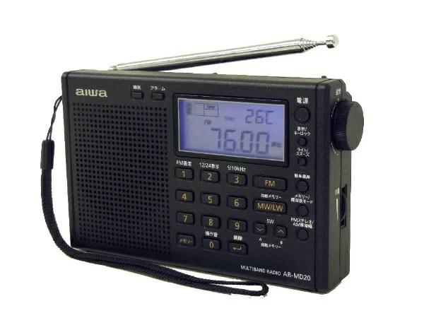 【2018年11月下旬】 【送料無料】 AIWA ポータブルラジオ AR-MD20 パールブラック