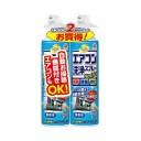 アース製薬 Earth らくハピ エアコン洗浄スプレー Nextplus 無香性 (420mlx2) 〔電化製品用洗剤〕【rb_pcp】