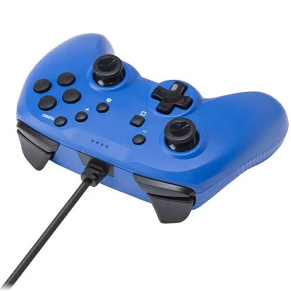 CYBER Nintendo Switch専用 ジャイロコントローラー ライト 有線タイプ ブルー CY-NSGYCL-BL【パソコン使用可能/SWITCHコントローラー/switch/スイッチ/サイバーガジェット/コントローラ/有線/ジャイロ機能】