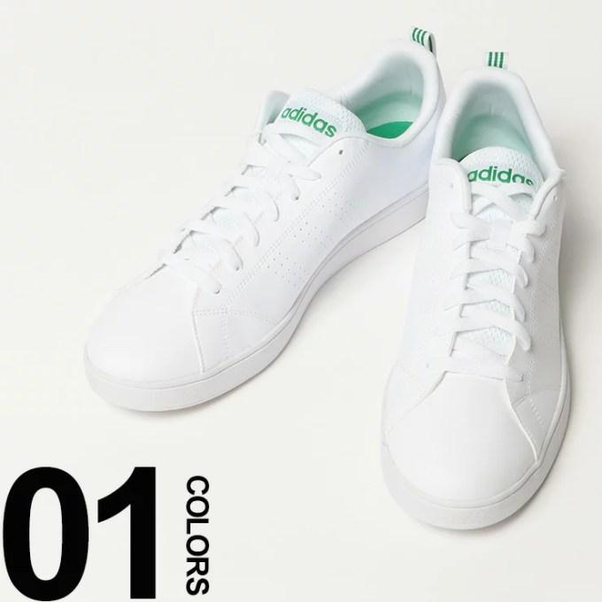 大きいサイズ メンズ adidas (アディダス) レースアップ ローカット スニーカー VALCL