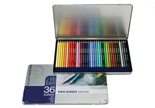 【メ可】サクラクレパス ヴァンゴッホ 色鉛筆 36色セット(メタルケース入り) 157371