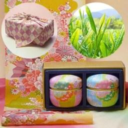 【母の日ギフト】伊勢新茶玉露・高級煎茶50g×2鈴子お手玉な