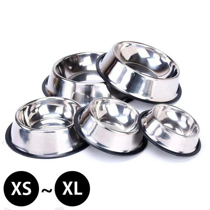 フードボウル 犬 ドッグ ペット用品 お皿 犬の皿 猫 給餌 フードボール ステンレス メタル 食器 食事 餌入...