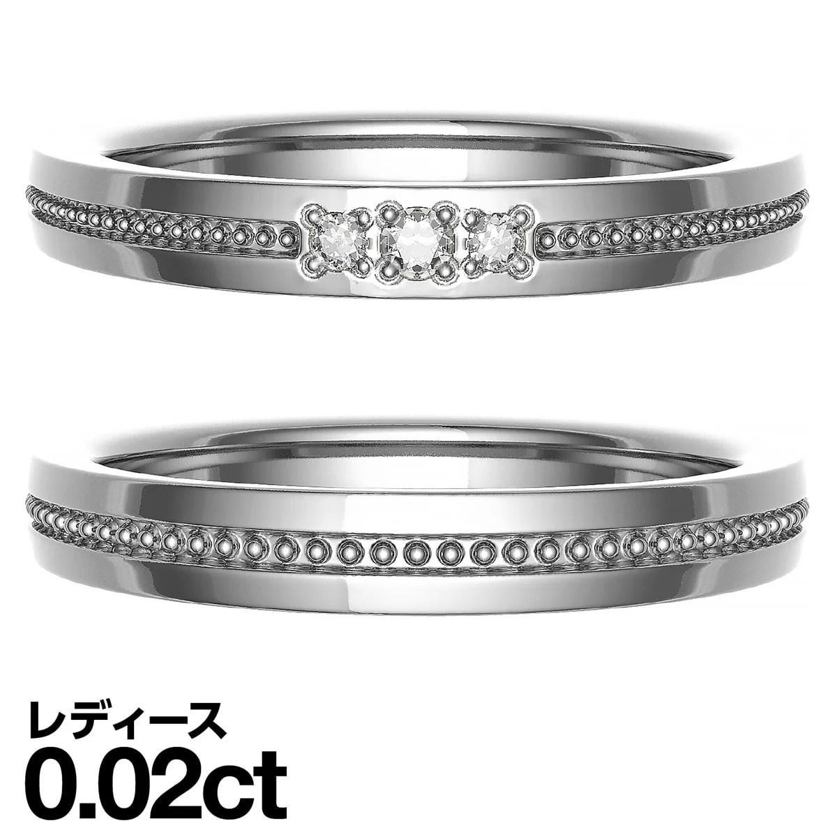 ペアリング シルバー925 シルバーリング ダイヤモンド 2本セット 品質保証書 金属アレルギー 日本製 誕生日 ギフト