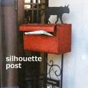ポスト 郵便受け sl-1501-2300 シルエットポスト (キャット move) 表札付きポスト ポスト スタンド、ねこ雑貨、ねこグッズ 玄関 DIY