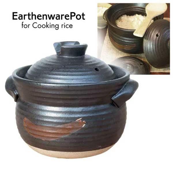 【送料無料】炊飯土鍋 ごはん鍋 ご飯鍋 土鍋 炊飯鍋 3合炊き