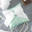 完成品 指輪交換 アンジェリーナ リングピロー(ブルー) ブライダル 結婚式 リングピロー 洋風 パール リボン ウェディング ウエディング