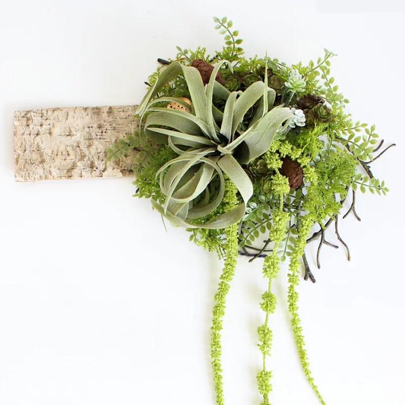 送料無料 枯れない観葉植物 写真印刷無料 ホワイトバーチ ボタニカル 造花 グリーン 手入れ不要で一生持つ♪のアーティフィシャルフラワー 癒しのインテリア 誕生日 結婚祝 お歳暮 クリスマス プレゼントに