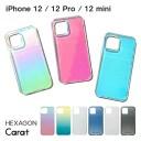 クリア iPhoneケース iPhone 12 / 12 Pro / 12 mini スマホケース HEXAGON Carat 六角形 持ち……