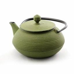 急須 5型線引 若草 ( 岩鋳 取っ手付き 茶こし付き 茶器