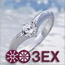 婚約指輪 エンゲージリング! 卸直営!ダイヤモンド 0.330ct Eカラー VVS1 EXCELLENT H&C 3EX プラチナ(Pt900)鑑定書付き ラウンドブ..