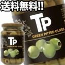 【3月1日出荷開始】富永貿易 TPグリーンオリーブ 340g瓶×12本[賞味期限:1年以上]1ケース1配送でお届け[送料無料]