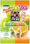 ぷるんと蒟蒻ゼリーパウチマスカット+オレンジ(20gX12個)