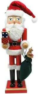 丸和貿易 クリスマス 飾り ナッツクラッカーオブジェ プレゼントサンタ L 400826201【smtb-s】