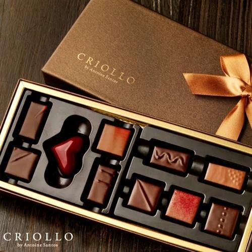 【チョコレート】サントスセレクト 10粒入り詰め合わせ【冷蔵便】 お取り寄せグルメ 高級 チョコセッ
