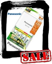 【エコパラダイス】Panasonic パナソニックK-KJ55MLE40 単3充電池4本付急速充電器セット EVOLTA(エボルタ)充電式 電池